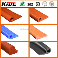 silicone extruded solid p rubber strip