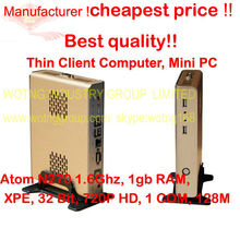 NEW Thin Client Computer, Fanless Mini industrial PC computer