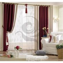 Modelo prefabricado nueva modelo apagón simple diseño de la cortina, Real simple diseño de la cortina para salon.