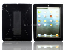 Hot selling top quality tough hard case robot defender hybrid PC and Silicone case cover for iPad mini with kickstand