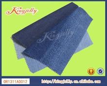 De algodón orgánico tela vaquera/mezclilla 10.6oz denim índigo jiangsu china jeans camisa