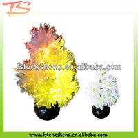 2013 novelty China led color changing fiber optic bonsai