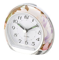 Exclusive Home decoration flower pattern Quartz Table Alarm Clock