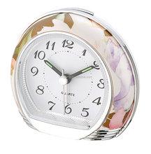 Exclusive Home decoration flower pattern Quartz Table Alarm Clock