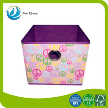colorful 210D polyester fabirc foldable storage box ikea toy collapsible storage box