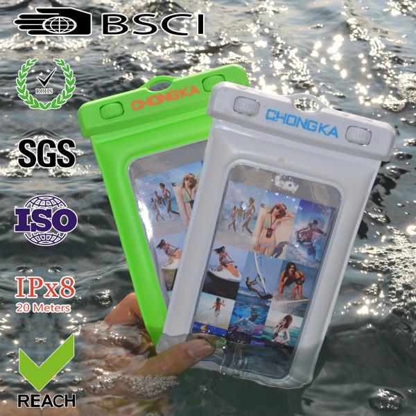 cheap pvc phone waterproof case/cell phone waterproof dry bag/floating waterproof phone bag