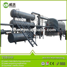 Top quality Automatic recycling waste tire and plastic pyrolysis plant