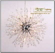 2013 Stainless Steel Wire Hanging Crystal Beads Pendant Lighting Fixtures MD1107-L12W