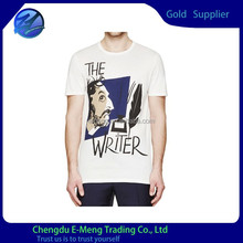 New Style Fashion Design Mens Print Tall Tee Shirt Short Sleeve