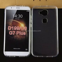 Mobile accessories ultra thin transparent clear tpu gel silicone tpu case for huawei g8 made in china