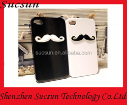 3D Glossy candy case black white lover case Moustache hard/soft phone case cover for Iphone 4 4S 5 5S 6 6Plus