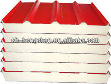 pu sandwich roof panel for prefab house and steel structure