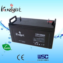 12v 100Ah AGm Sealed lead acid battery made in Guangdong China with high quality