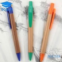 Fashion shape promotion wood pen with custom logo pen