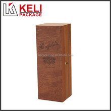 1 bottle wooden wine gift box with embossed logo