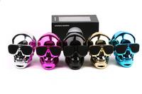 New Plastic Metallic SKULL Wireless Bluetooth Speaker Sunglass NFC Skull Speaker Mobile Subwoofer Multipurpose Speaker