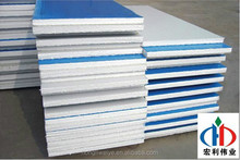 2014-2015 hot sale EPS sandwich panel 100mm chinese factory for building fast install and fast delivery