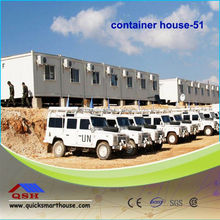 Low cost flat pack multi container house