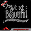 Rhinestone clothing accessories my black is beautiful