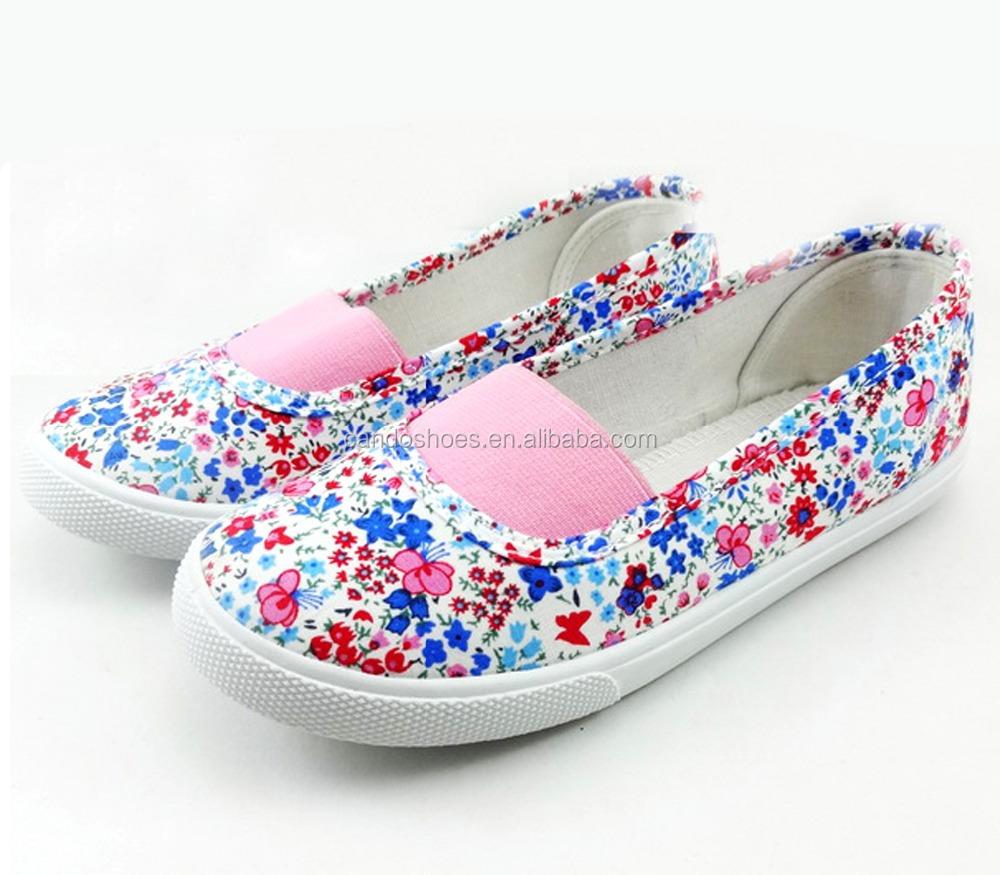 Online Cheap Slip On Fitness Step Girls Shoeslatest Flower Flat