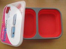 Silicon kitchenware lunch box,silicon rubber food container kitchenware accessaries