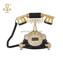 Gold Plated Dial antique telephone with Hemp Rope Line home decorative GBD-235B