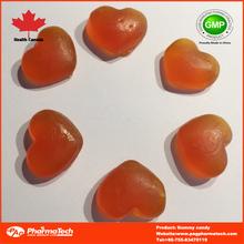 sugar coated/sugar free colorful heart shape gummy candy