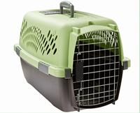 Travel plastic crate pet cage
