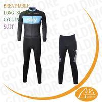 Cheap china wholesales Custom Sky team club winter bicycle clothing +Long pants set