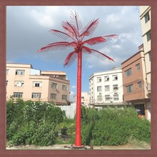cheap artificial coconut tree decorative palm/coconut trunk led tree lighting 4m 2014 new product artificial plant outdoo