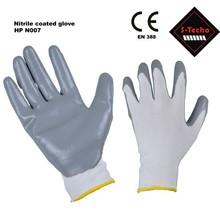 Nitrile coated nylon work glove