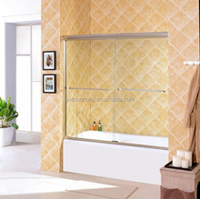 FOCA 97FC shower room with brushed nickel finish frame