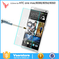 Supply many kinds of high quality tempered screen protector include for HTC one max\8088\809D\8060\T6