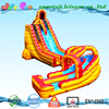 giant inflatable water slide for kids and adult,27'H twist water slide with pool