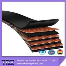 TRX 2plies,3plies,4plies,5plies,6plies,8plies Rubber Conveyor Belt for Cement/Concrete Plants working condition