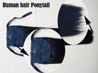 2015 New Type Ponytail Wrap Around Human Hair Drawstring Ponytail Hairpieces Ponytail Hair Extensions For Black Women