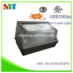 30w 40w 60w 90w 120w dlc ul cul approved outdoor led wall pack lights MW driver 7 years warranty