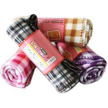 100% polyester super soft plaid printed polar fleece blanket