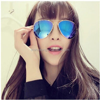 Brand Logo RB 3025 Aviator Sunglasses Ray Oculos de sol Sun Glasses Mirror Colored Lenses For Eyes Blue Green Gold Red 58MM