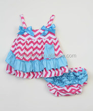 matching Fashion baby swing top with bloomer toddler girls boutique clothing set lovely bloomers for babies wholesale price
