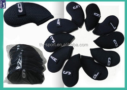 10 pcs per set soft touch Neoprene golf iron head covers