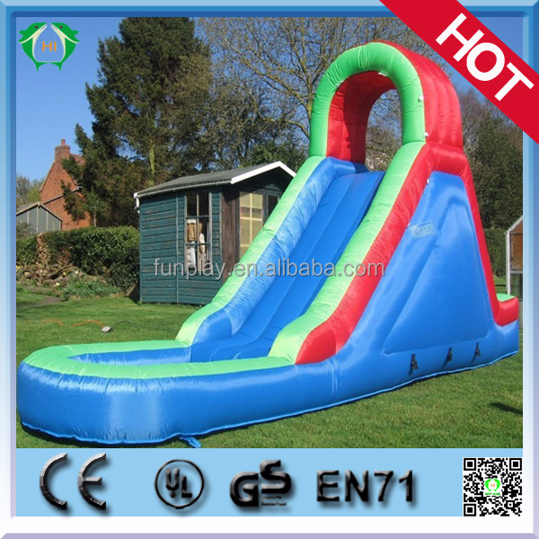 2015 hot backyard cheap inflatable water slides floating water slides