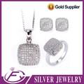 Piedras de circón cúbico de bodas 925 joyería india de la plata de ley