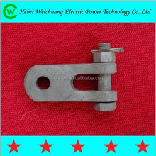 High quality galvanized electrical Z type clevis/cable right angle plates for transmission line hardware fittings