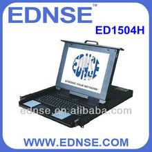 ED1504H KVM with 8 ports rackmount keyboard drawer