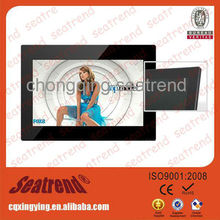 digital photo frame support photo/music/video, CE&ROHS approved solar digital photo frame