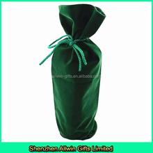 Custom Single bottle Velvet Wine Bottle Bag with Round Bottom