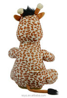 New toy for Christmas 2014 sining plush giraffe toy
