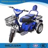 motorcycle truck 3-wheel tricycle electric adult tricycle with shopping basket
