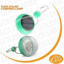 small qty available wholesale waterproof 7 LED solar eco led camping light for searching